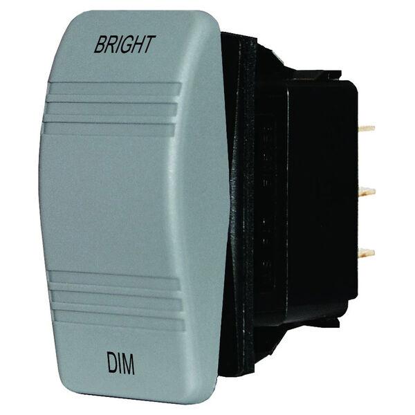 Blue Sea Water-Resistant Dimmer Control Contura Rocker Switch, Gray