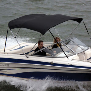 """Bimini Top Polyester Fabric and Boot Only, 3-Bow 6'L, 46""""/54""""H, 61""""-66""""W"""