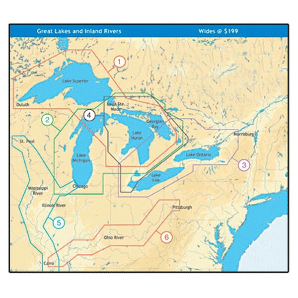 C-MAP NT+ Wide Map, Great Lakes Superior/Huron