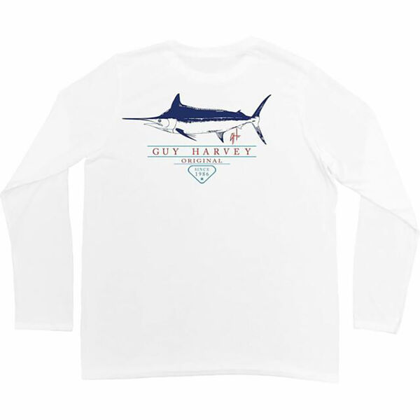 Guy Harvey Men's HUSTLE PER UVX Long-Sleeve Tee