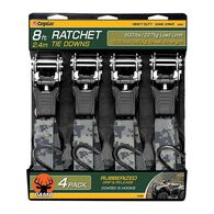 "Camo 8'L x 1""W Ratchet Tie Downs, 4-Pack"