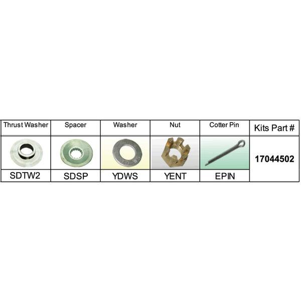 Solas 17044502 Propeller Kit for Suzuki DF90-DF140 HP
