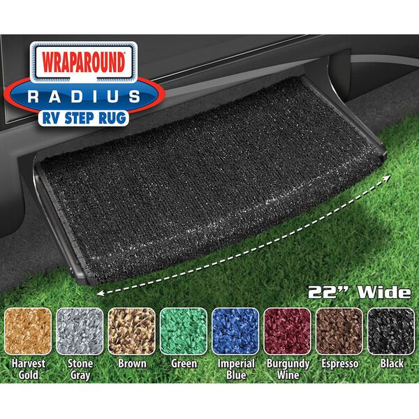 Prest-O-Fit Wraparound Radius RV Step Rug, 22""