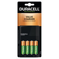 Duracell Ion Speed 1000 NiMH Battery Charger with 4 AA Rechargeable Batteries