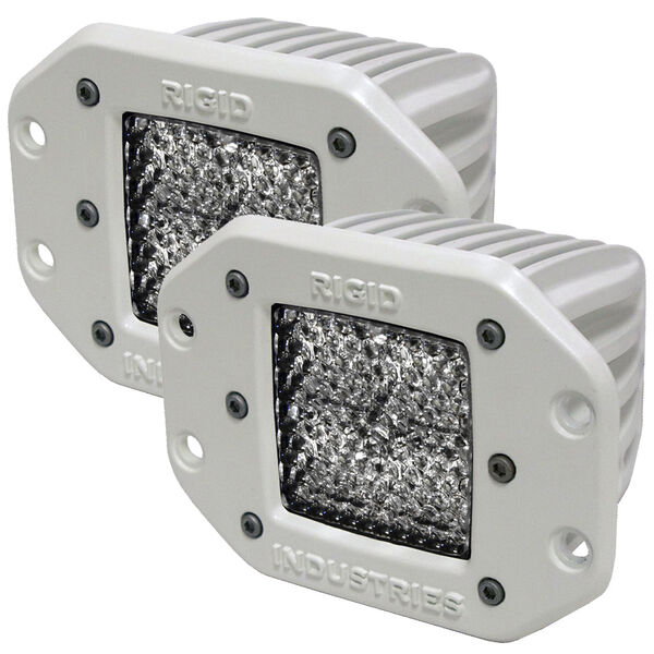 Rigid Industries M-Series Dually Flush-Mount LED Diffused Lights, Pair