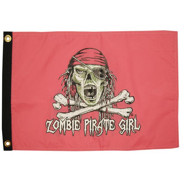 "Zombie Pirate Girl, 12"" x 18"""