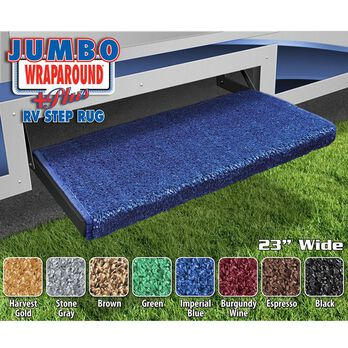 Prest-O-Fit Jumbo Wraparound Plus RV Step Rug, 23'', Imperial Blue
