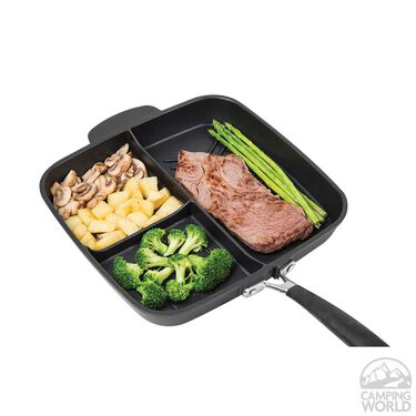 MasterPan Non-Stick 3 Section Meal Skillet, 11""