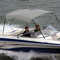 """Bimini Top Polyester Fabric and Boot Only, 3-Bow 6'L, 46""""/54""""H, 54""""-60""""W"""