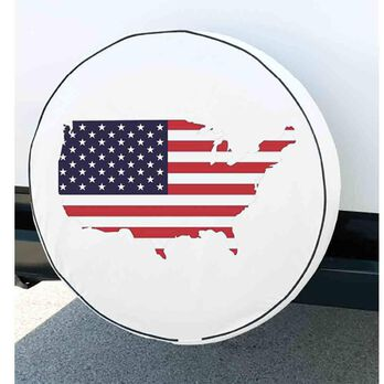 """Elements Spare Tire Cover, Flag, 29.75"""""""