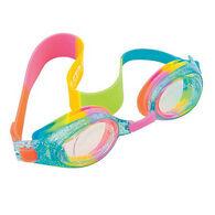 Aqua2ude Swim Goggles, Rainbow Glitter