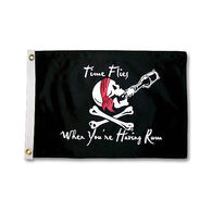 """Pirate Heads """"Time Flies When You're Having Rum"""" Boat Flag"""