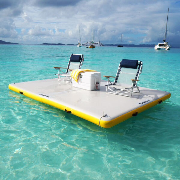 Solstice Inflatable Floating Dock, 6' x 5' x 6""
