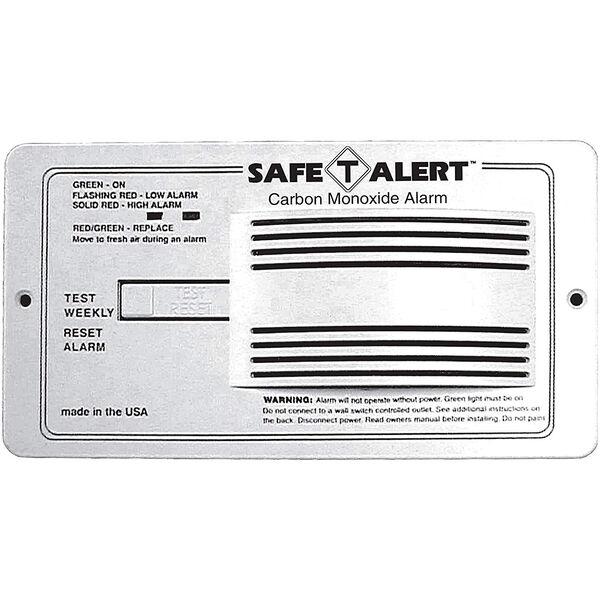White Carbon Monoxide Alarm Flush Mount