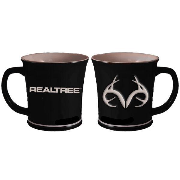 Realtree 3-D Antlers Logo Mug, 11 oz., Black