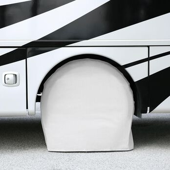 "Elements White Bus Tire Cover Pair, 40""-42"""