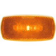 Oval LED Clear/Marker Light, Amber