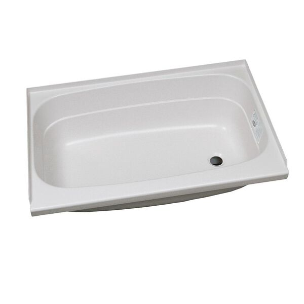 "Replacement ABS Bath Tub, 24"" x 32"", White with Right Drain"