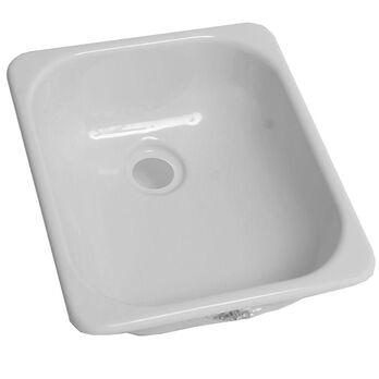 """13"""" x 15"""" Single Sink - White"""