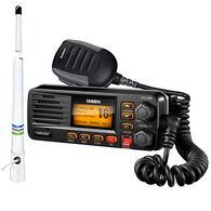 Uniden Solara D UM380 VHF Radio Package, Black w/Shakespeare 5206-N Antenna