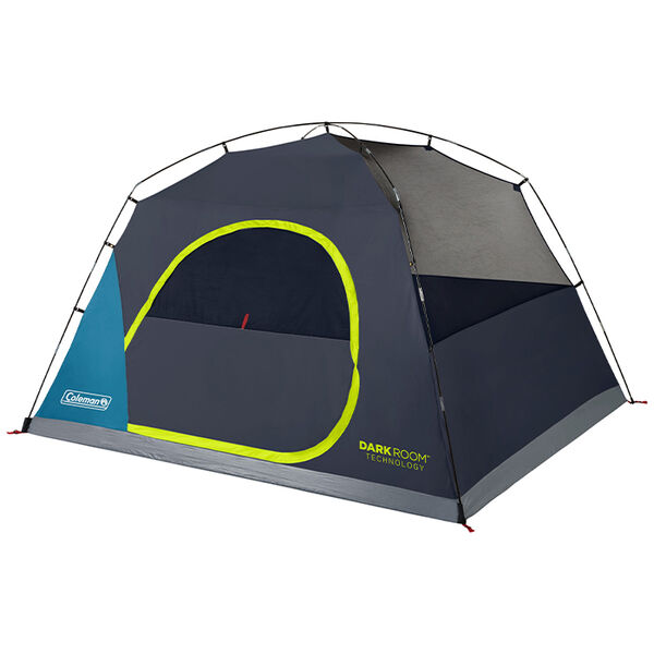 Coleman Dark Room Skydome 6-Person Camping Tent, Blue