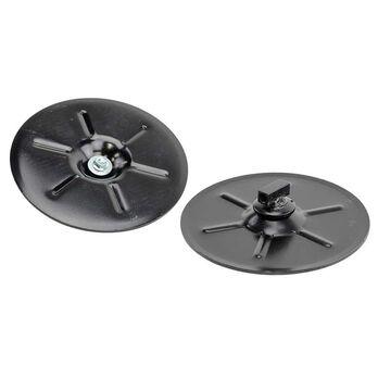 "9"" Round 5th Wheel Landing Gear Foot Pads, Set of 2"