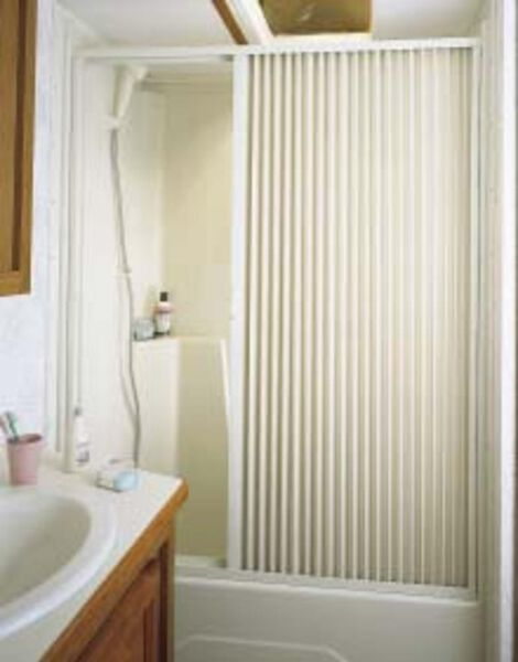 "Pleated Shower Door, White - Up to 48"" W x 57"" L"