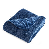 """Dream Theory Velvet 12-lb. Weighted Throw Blanket, Navy, 48"""" x 72"""""""