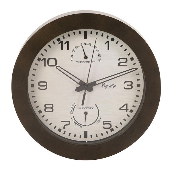 Wall Clock with Thermometer and Humidity, 10""
