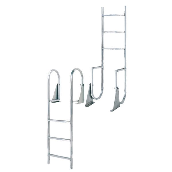 International Dock Wide-Step Flip-Up Dock Ladder, 5-Step