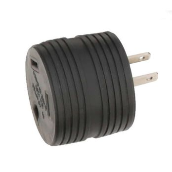 15 Amp Male to 30 Amp Female Round Adapter