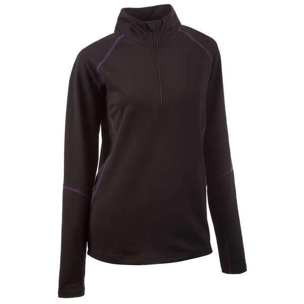 Huntworth Women's Terry Knit Quarter-Zip Pullover