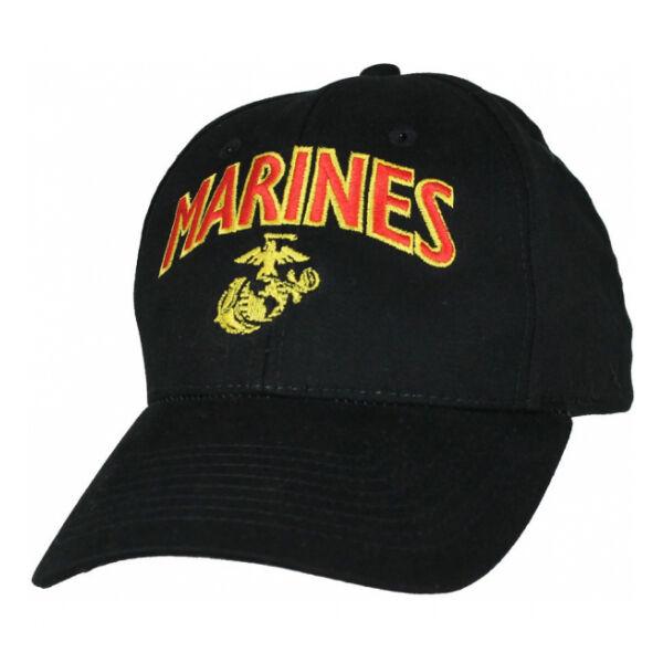 U.S. Marines Corps Ball Cap w/EGA, Black