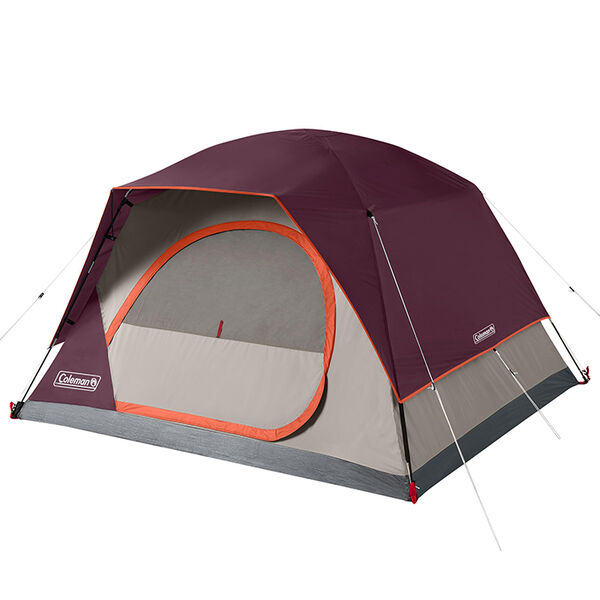 Coleman Skydome 4-Person Camping Tent, Blackberry