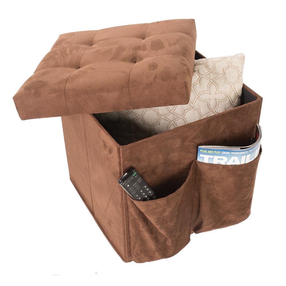 Tufted Top Storage Ottoman Brown Camping World