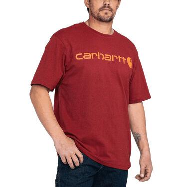 Carhartt Men's Heavyweight Short-Sleeve Signature Logo T-Shirt