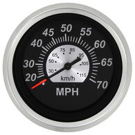 "Sierra Black Sterling 3"" Speedometer, 70 MPH"