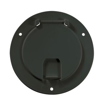 Deluxe Cable Hatch - Round, Black