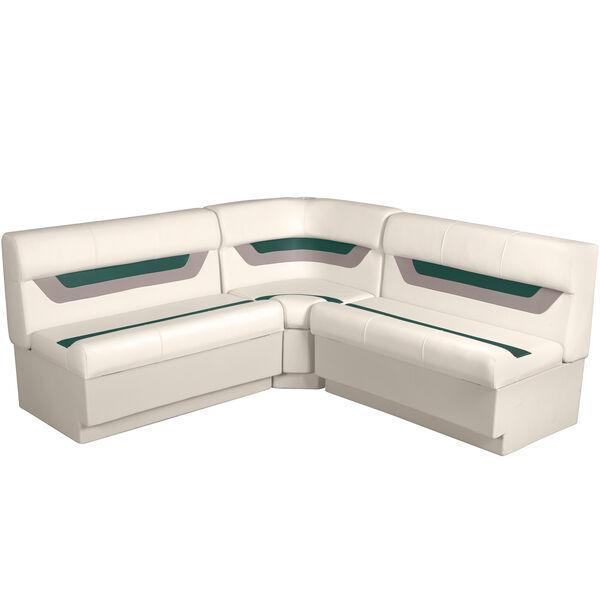 "Designer Pontoon Furniture - 61"" Rear Wraparound Package, Platinum/Evergreen/Moc"