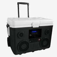 40-Quart Wheeled Cooler, Bluetooth PA System and Power Station - Grey
