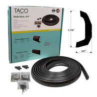 "TACO Marine Semi-Rigid Vinyl Rub Rail Kit, 1-7/8"" X 3/4"", Black"