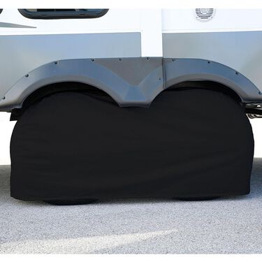 "Elements Black Double Tire Cover, 27""-29"""