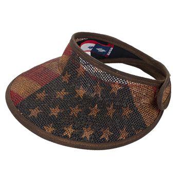 Peter Grimm Emily American Flag Visor Hat
