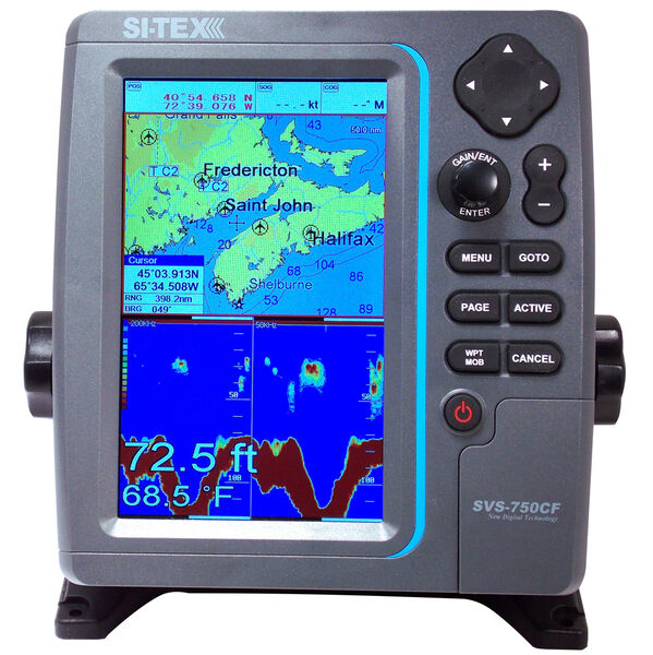 Si-Tex SVS-750CF Color Chartplotter/Fishfinder Combo