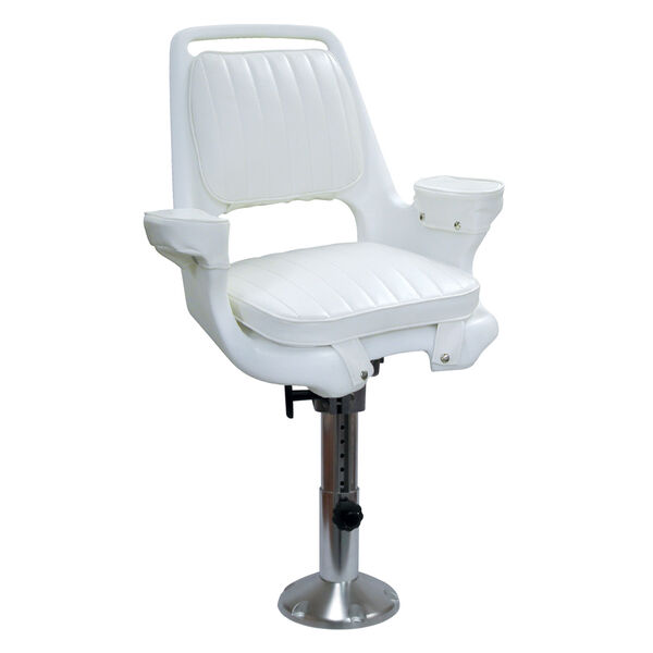 Wise Captain's Chair With Adjustable Pedestal, Spider Mounting Plate