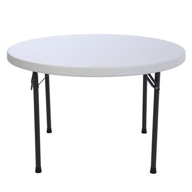 Round Commercial Folding Table, 46""