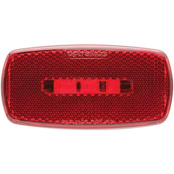 Oval LED Clearance/Marker Light; Replaceable Lens; Fleet Count; Black Base; Red