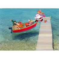Kersten Brothers Santa Boarding Small Craft Card