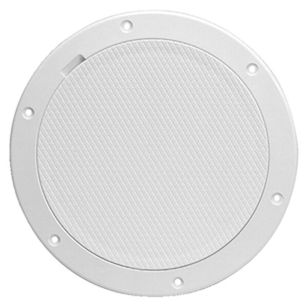 """Pry-Out 8"""" White Deck Plate With Diamond Center"""