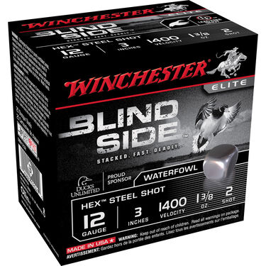 "Winchester Blind Side Magnum Ammo, 12-ga., 3"", 1-3/8 oz., #2"
